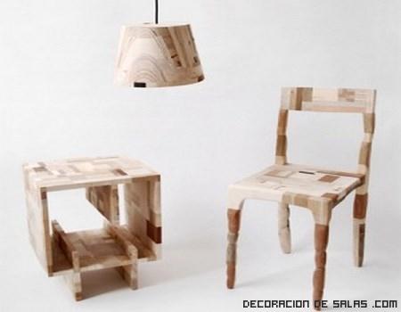 Muebles de madera reciclados