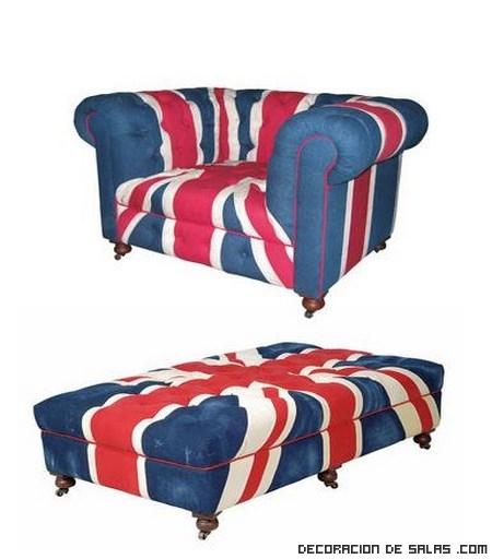 Muebles con la bandera inglesa