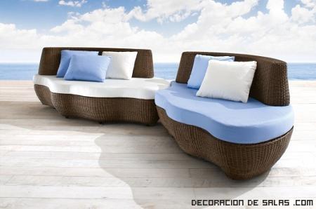 Ideas de sofás elegantes para piscinas