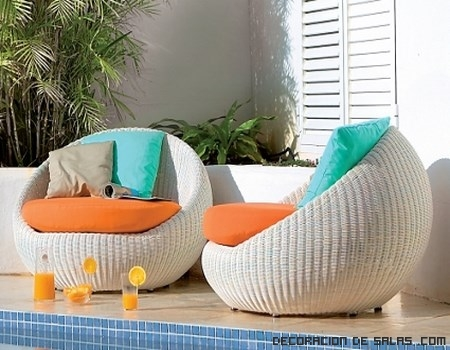 muebles exteriores redondos