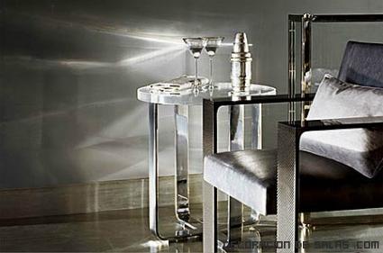 muebles con patas metalizadas