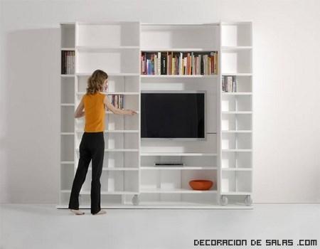 muebles blancos para decoración de salones