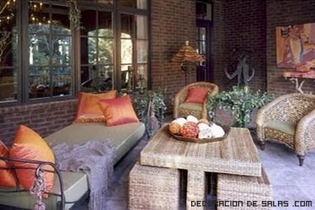 Muebles de forja para porches
