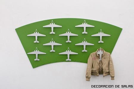 Perchero aviones