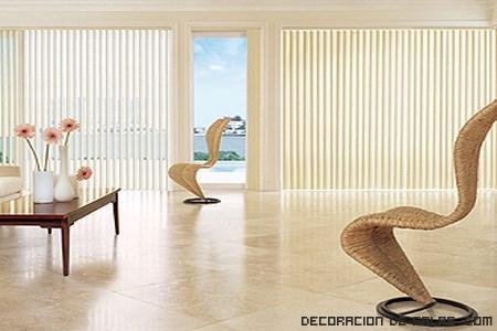 decoración de salones con persianas