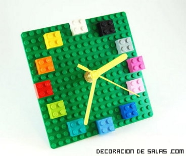 ideas decorativas con piezas Lego