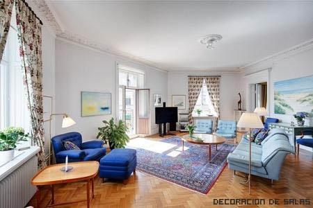Salón muebles azules