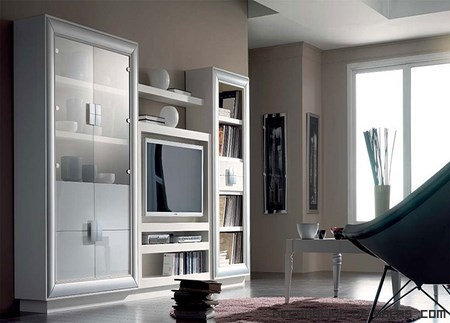 muebles de color blanco