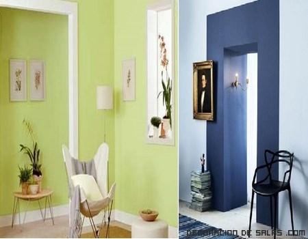 Decoracion en verde y azul