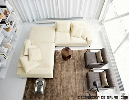 sofás de diseño en color beige