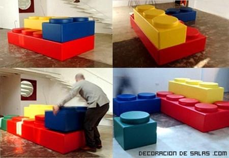 Sofás lego en tres colores