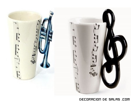 tazas originales con instrumentos musicales