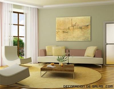 salón en color ocre