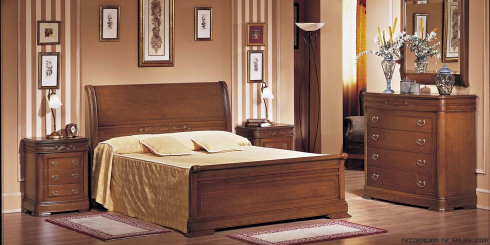 decoración clásica en dormitorios