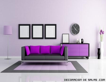 color malva en el salón