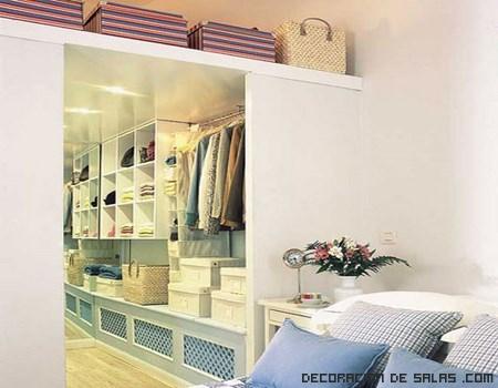 vestidores en las habitaciones