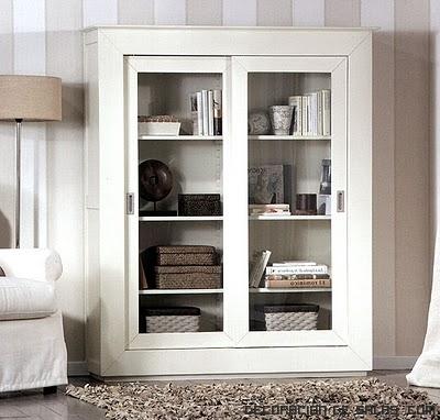 muebles en color blanco para salones