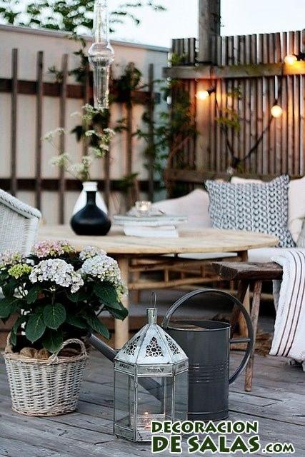 adornos para terrazas en otoño