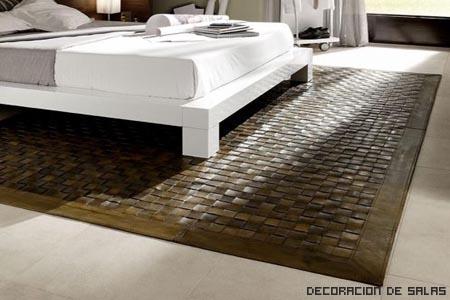 alfombra cuero
