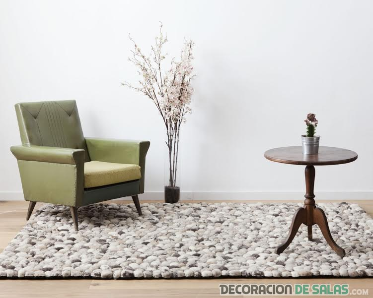alfombra efecto piedra sukhi