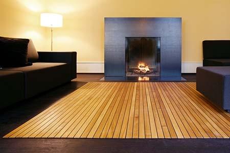 alfombra madera