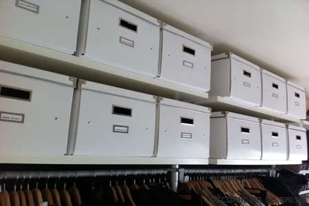 almacenaje en cajas