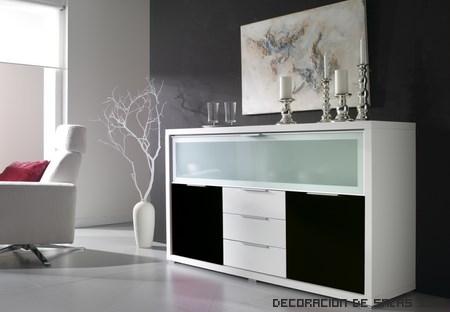 Aparadores modernos en color blanco