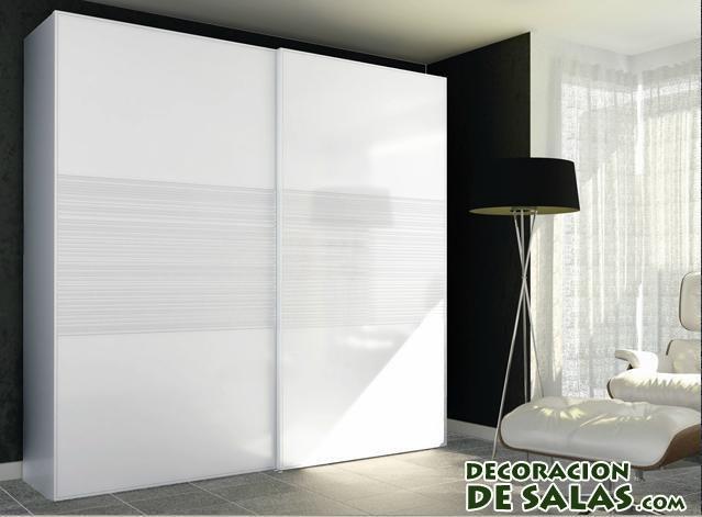 armario moderno en blanco