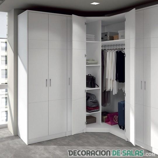 armario rinconera blanco