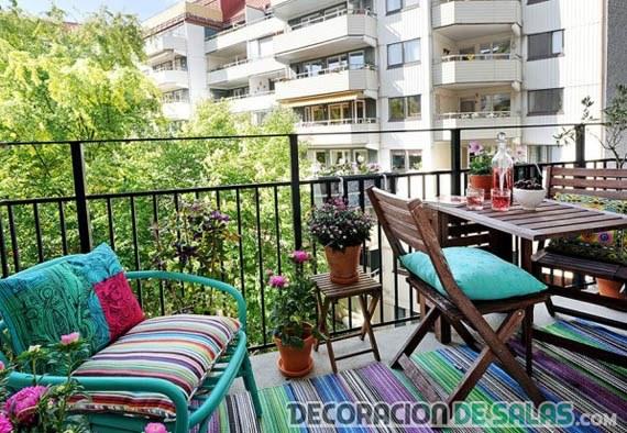 balcones decorados en color