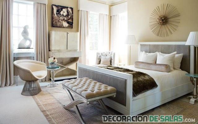 bancos para decorar el dormitorio