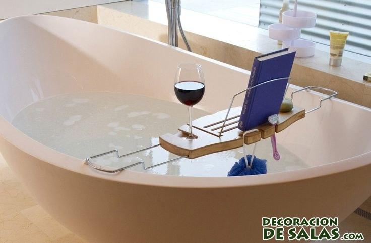 bandeja de madera para bañera
