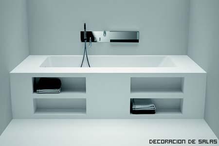 bañera estanteria