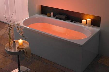 bañera iluminada