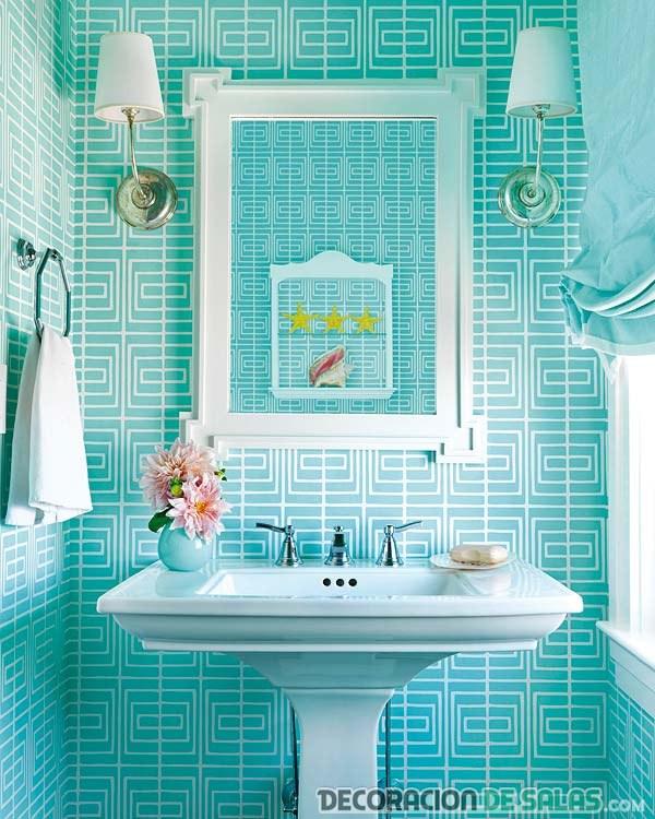 baño azul playero