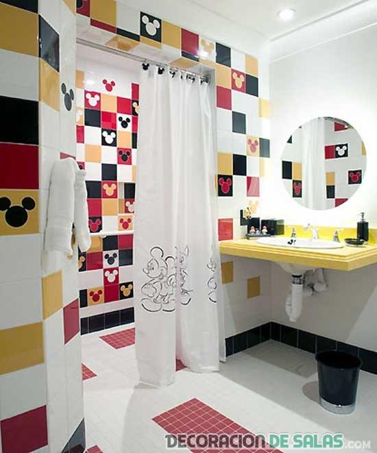 baño decorado mikey mouse