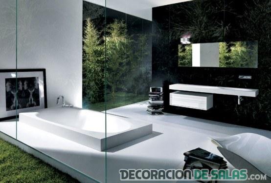 baño decorado minimalista