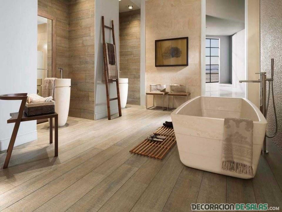 baño moderno en marrón