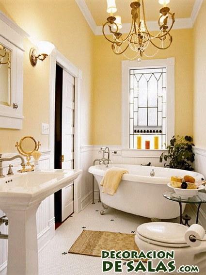 baño romántico y clásico