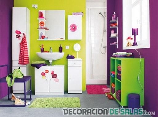 baños con mezcla de colores muy llamativos