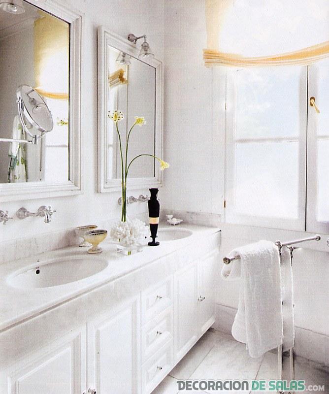baños en color blanco muy modernos