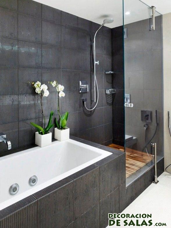 baños en color negro modernos