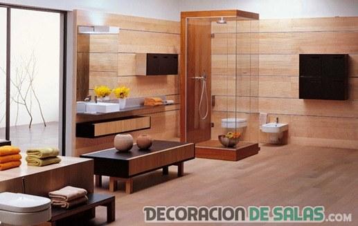 baños en madera de lujo