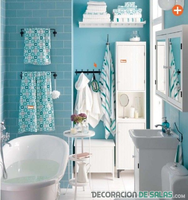 Baños ikea en azul