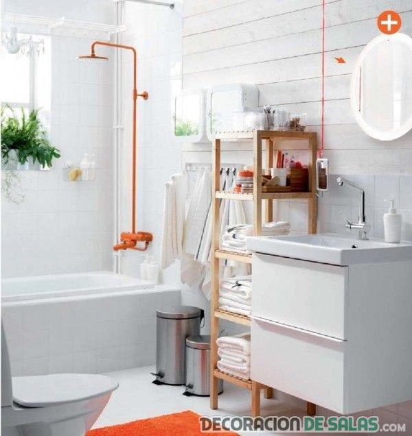 baños ikea en naranja