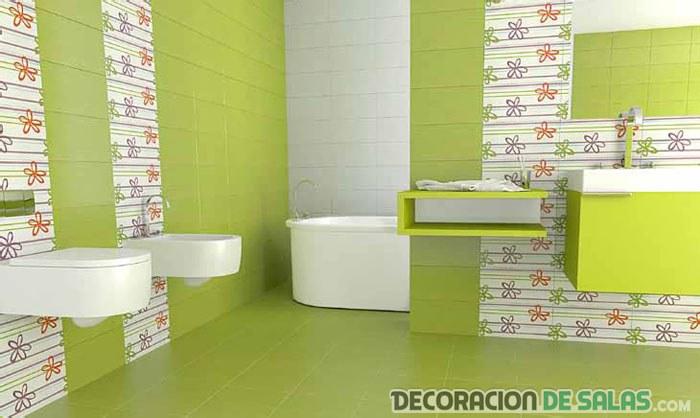 baños juveniles en verde