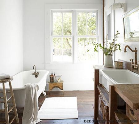 paredes de baño en blanco