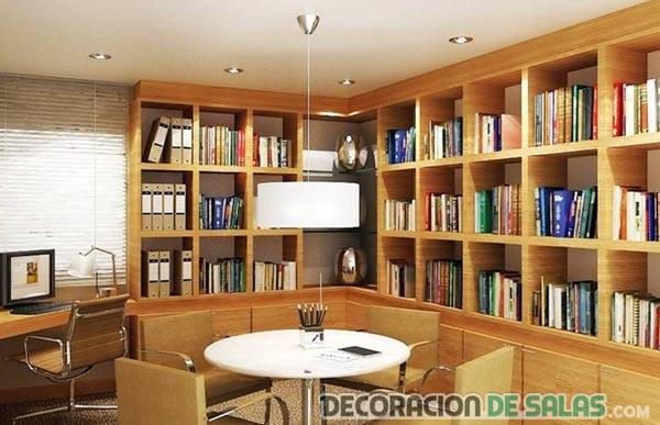 biblioteca en casa estanterias