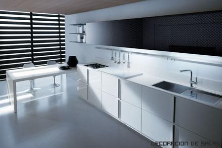 blanco y negro cocina