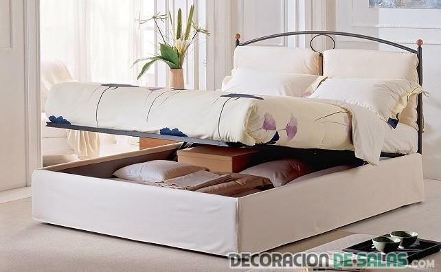 cama blanca con canapé